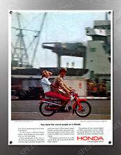 VINTAGE HONDA 1964 IMAGE BANNER NOS IMAGE REPRODUCTION