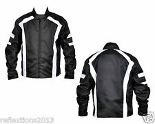Men's MotorBiker Motorcycle Stripes CE Armor Motorbike Waterproof Textile Jacket