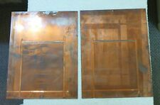 Lot Of 2 Vintage Copper Printing Plates For A US Navy Report Dated July 8