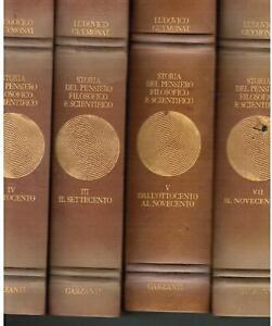 GEYMONAT,Storia del pensiero filosofico e scientif 7 vv