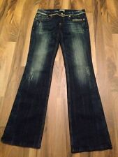 Women's Rerock  For Express Limited Edition  Embellished Jeans Size 4 Dark Wash