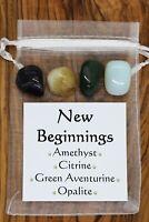 New Beginnings Crystal Gift Set Amethyst Citrine Aventurine Opalite Renewal