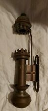 GNR vintage steam railway train carriage wall mounted brass lamp