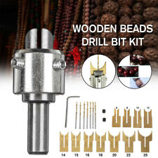 16pcs Wooden Bead Maker Beads Drill Bits Milling Cutter Set Tool Kit Woodworking