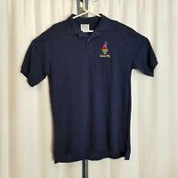 Vintage 1996 Atlanta Olympic Hanes Adult Large L Navy Blue Polo Shirt w/ Tags