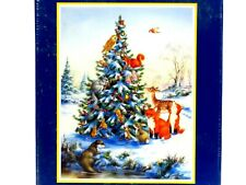 Bits And Pieces Jigsaw Puzzle 550 Friends Of The Forest Animals Winter Tree
