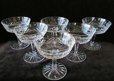 SET OF 6 OLD/HEAVY WATERFORD LISMORE SHERBET/CHAMPAGNE GLASSES -- SPOTLESS