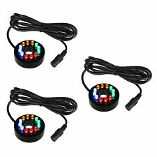3×12 LED Fountain Ring Lights Auto Colored Changing Submersible Water Pump Light