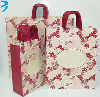 PAPER CARRIER BAGS TWISTED HANDLE HIGH QUALITY GIFT BOUTIQUE BAG ROSE (25 bags)