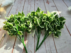 3 Bunches of Artifcial Foliage 25cm Long, 5 stems per bunch - varigated ivy