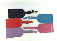 REAL LEATHER TRAVEL LUGGAGE TAG SUITCASE LABEL ADDRESS ID HOLIDAY TAGS NEW