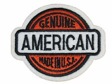 GENUINE AMERICAN EMBROIDERED PATCH Iron-on NEW Made in U.S.A. Free Ship Biker