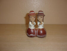 VINTAGE ALLPA MADE IN PARU CLAY  WHISTLE PAIR OF GIRLS FOLK ART