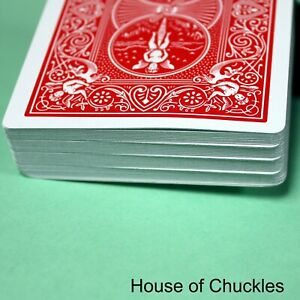 End Cut Stripper Deck, Bicycle - Magic Playing Card Trick -Shaved, Tapered