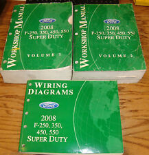 2008 Ford F-250 350 450 550 Shop Service Manual 1 & 2 + Wiring Diagram Set