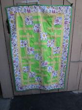 "Project Linus Handmade Quilt Lap Blanket 40x 60"" flip flopes sandles colorful"
