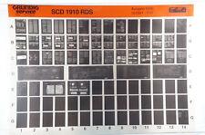 Grundig Service SCD 1910 RDS CD Autoradio Microfiche 1993 KFZ Klassiker K214