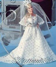 CROCHET PATTERN Barbie robe de mariage robe de soirée robe Sindy Fashion Doll 787