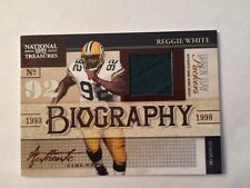 2009 National Treasures Biography REGGIE WHITE Green Bay Packer HOF Patch #50/50