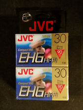 Jvc Vhs-C, 2 Pack, Compact Video Tapes Ehg Hi-Fi - New/sealed.