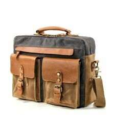 Vintage Men Casual Shoulder Bag Leather Messenger Bags Male Computer Briefcase