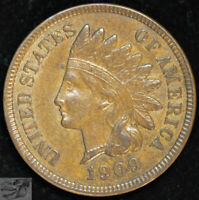 1909 Indian Head Cent, Penny, Uncirculated Brown Condition, Free Ship C4950