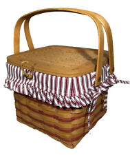 Longaberger 1997 Sweetheart Remembrance Weekend Basket Red Combo NICE!!