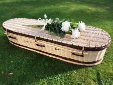 Autumn Gold Premium Wicker / Willow Creamy White & Chestnut (Oval Style) Coffin