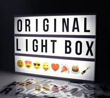 Locomocean Light Up Your Life A4 Cinematic Light Box Sign with Emoji Cinema