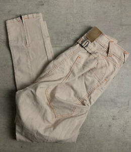 Drop Crotch Jeans Cream 28 Waist ALEX CHRISTOPHER RRP £95.00 NEW WITH TAGS