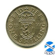 A 1959 Cupro-Nickel ELIZABETH II SCOTTISH SHILLING Coin, 60 Years Old!
