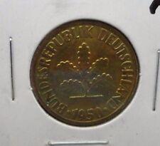 CIRCULATED 1950F 10  PFENNIG GERMAN COIN (62816)!