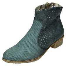 Rieker Kendra Y0766-12 Stiefelette Stiefel Frühjahr Sommer blau Gr.37 - 42 NEU