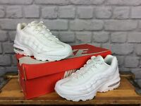 NIKE AIR MAX 95 WHITE GREY SWOOSH TRAINERS LADIES CHILDRENS MANY SIZES RRP £75