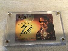 """Tim Roth Planet Of The Apes Signed Card Authentic Signature 2001 Rare """"Thade"""""""