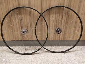Campagnolo Record high flange pista track 36H/NOS martano tubular wheelset
