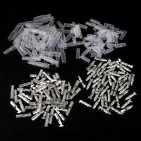 50 Sets 4mm Male + Female Wire Bullet Crimp Connectors Terminal With Sheath
