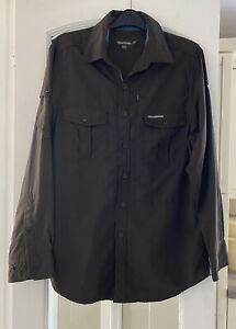Craghoppers Nosilife Brown Adventure Shirt Insect Repellent Drying Hoops Medium