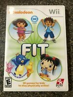 Nickelodeon Fit (Nintendo Wii) Complete w/ Manual - Tested - Free Shipping
