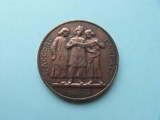 Médaille ancienne galvano cuivre et plâtre : L'ACCORD PARFAIT d'après D.DUPUIS