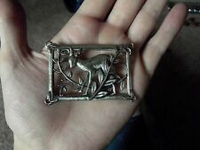 Vintage Jewelry Brooch Pin signed Norseland Coro STERLING silver DEER in Forest