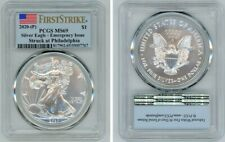 2020 (P) SILVER AMERICAN EAGLE $1 EMERGENCY ISSUE PCGS MS69 FIRSTSTRIKE FLAG