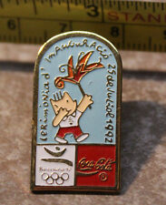 1992 Barcelona Coca Cola Torch Relay Summer Olympics Collectible Pin
