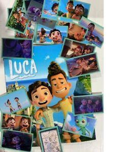 Luca Disney Pixar Panini Album complete with 180 loose stickers argentina edit.