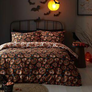 Halloween Pumpkin Monster Single Double Bedding Set Reversible Duvet Cover