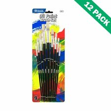Paint Brush For Kids, Oil And Acrylic Painting Brushes Set (9 Pack, 12 Units)