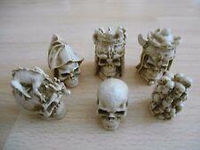 Gothic Skulls Fantasy Model Small Resin Chess Set in Black & Ivory effect colour