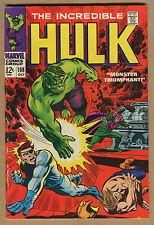 Incredible Hulk #108 - Monster Triumphant! - 1968 (Graded 4.0) Wh