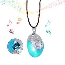 Princess Moana Necklace Glowing Music Cosplay Heart of Te Fiti Girl Pendant Glowing&music
