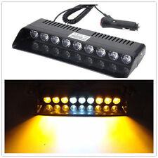 9 LED 12V Traffic Emergency Hazard Warning Dash Board Flash Strobe Light Amber W
